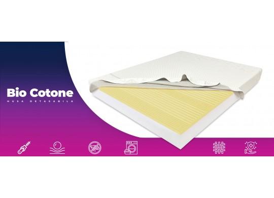 Saltea memory 7 cm, 18+7+1, Bio Bumbac, 80x190, DolceDormire Diamante 7K Senzatione clasa A