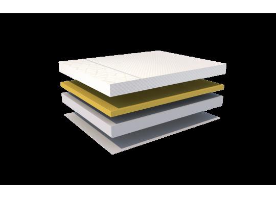 Saltea memory 7 cm, 18+7+1, Bio Bumbac, 160x200, Dolce Dormire Diamante 7K Senzatione clasa A