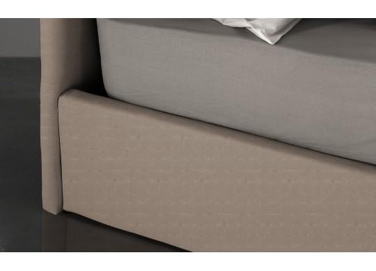 Pat Tapitat pentru Dormitor cu Lada, 90x190, Abra Promo Dolce Dormire, Textil, Beige