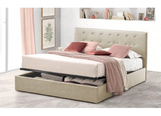 Pat Tapitat pentru Dormitor cu Lada, 100x190, Abra Promo Dolce Dormire, Textil, Ivoriu
