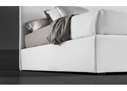 Pat Tapitat pentru Dormitor cu Lada, 100x190, Abra Promo Dolce Dormire, Alb