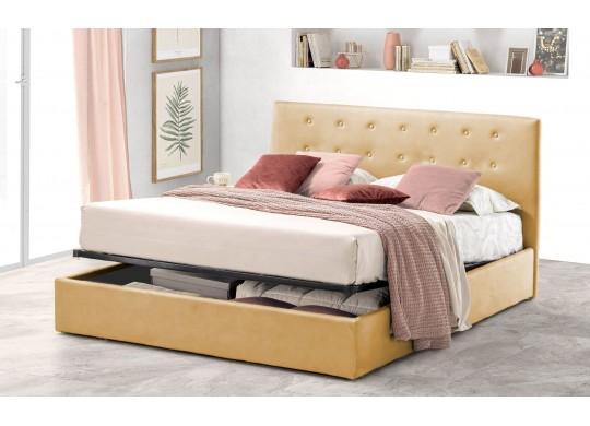 Pat Tapitat pentru Dormitor cu Lada, 100x190, Abra Promo Dolce Dormire, Beige