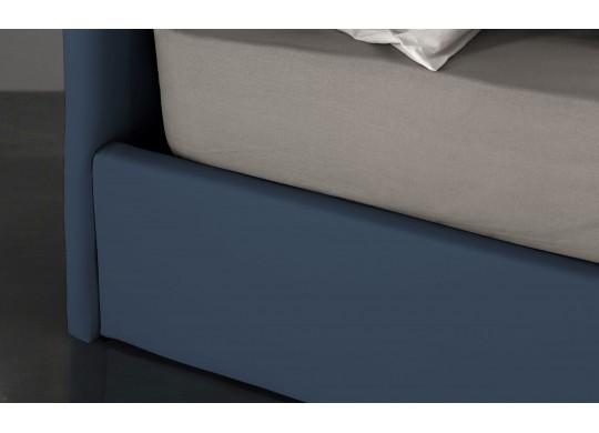 Pat Tapitat pentru Dormitor cu Lada, 100x190, Abra Promo Dolce Dormire, Bleumarin