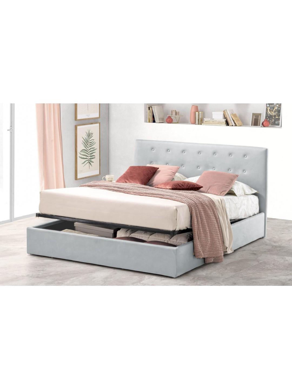 Pat Tapitat pentru Dormitor cu Lada, 90x190, Abra Promo Dolce Dormire, Gri