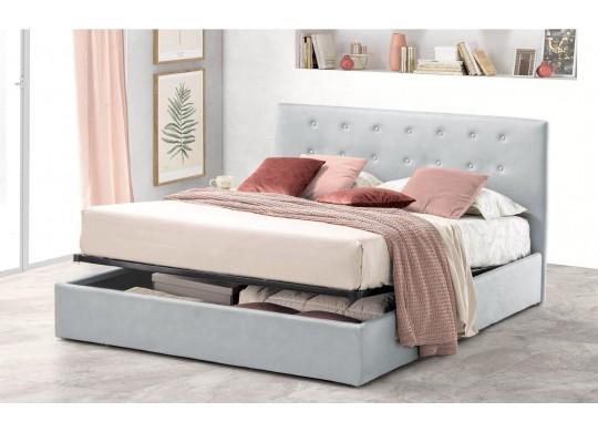 Pat Tapitat pentru Dormitor cu Lada, 100x190, Abra Promo Dolce Dormire, Gri