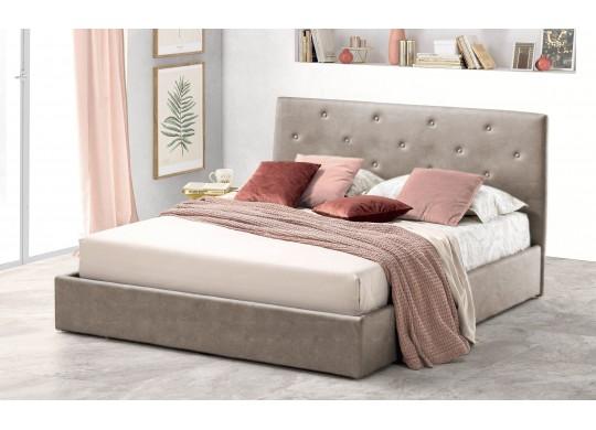 Pat Tapitat pentru Dormitor cu Lada, 100x190, Rombo Promo Dolce Dormire, Textil, Beige