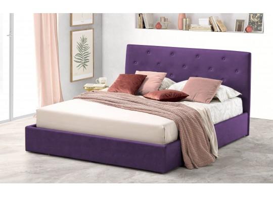 Pat Tapitat pentru Dormitor cu Lada, 100x190, Rombo Promo Dolce Dormire, Textil, Mov