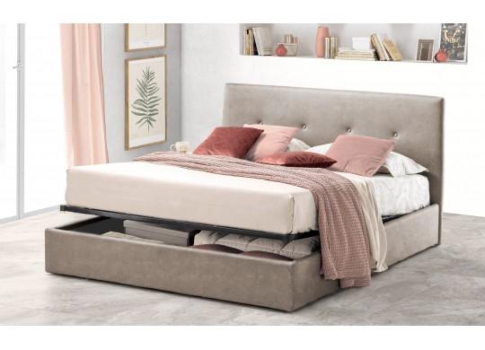 Pat Tapitat pentru Dormitor cu Lada, 100x190, Tiamo Promo Dolce Dormire, Textil, Beige