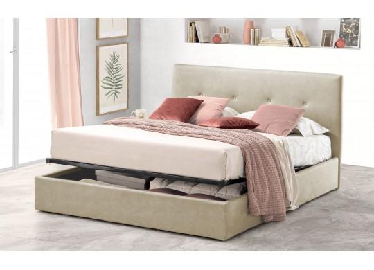 Pat Tapitat pentru Dormitor cu Lada, 100x190, Tiamo Promo Dolce Dormire, Textil, Ivoriu