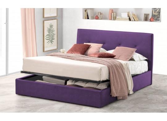 Pat Tapitat pentru Dormitor cu Lada, 100x190, Tiamo Promo Dolce Dormire, Textil, Mov