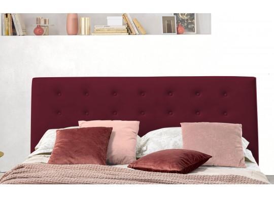 Pat Tapitat pentru Dormitor cu Lada, 100x190, Abra Promo Dolce Dormire, Bordo