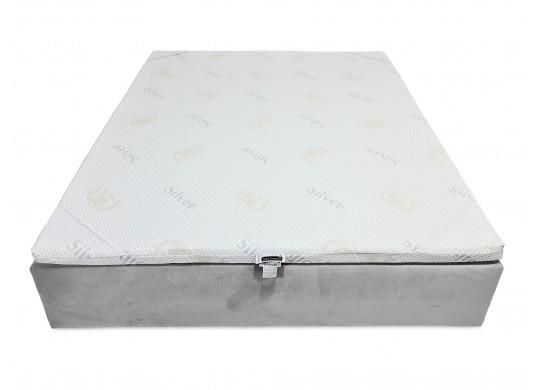 Topper 5 cm, 100x190, Husa Ioni de Argint Detasabila, Amo Dormire
