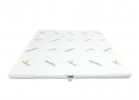 Topper Memory 3+3cm, 100x190, Husa Bio Bamboo Detasabila, Amo Dormire