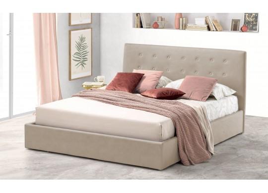 Pat Tapitat pentru Dormitor cu Lada, 100x190, Abra Promo Dolce Dormire, Textil Teflonat, Anti-Pete Jungle, Crem