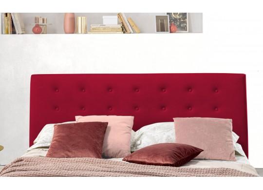 Pat Tapitat pentru Dormitor cu Lada, 100x190, Abra Promo Dolce Dormire, Catifea Velluto, Rosu