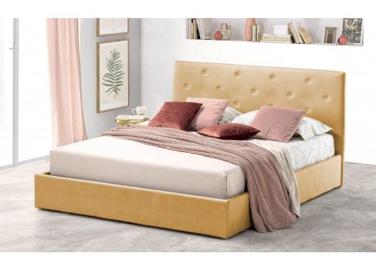 Pat Tapitat pentru Dormitor cu Lada, 100x190, Rombo Promo Dolce Dormire, Beige