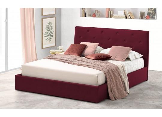 Pat Tapitat pentru Dormitor cu Lada, 100x190, Rombo Promo Dolce Dormire, Bordo