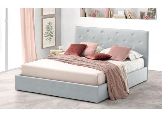 Pat Tapitat pentru Dormitor cu Lada, 100x190, Rombo Promo Dolce Dormire, Gri