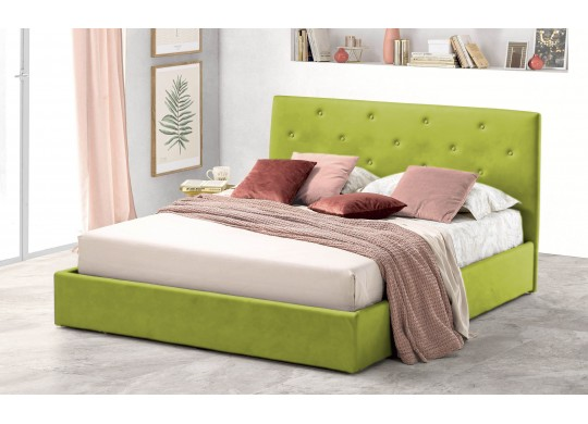 Pat Tapitat pentru Dormitor cu Lada, 100x190, Rombo Promo Dolce Dormire, Verde