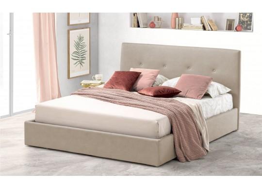 Pat Tapitat pentru Dormitor cu Lada, 100x190, Tiamo Promo Dolce Dormire, Textil Teflonat, Anti-Pete Jungle, Beige