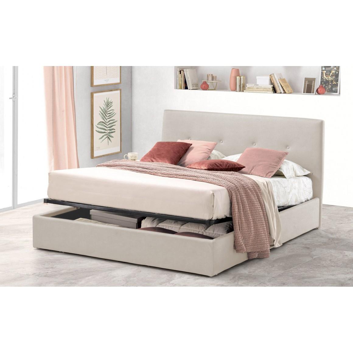 Pat Tapitat pentru Dormitor cu Lada, 120x200, Tiamo Promo Dolce Dormire, Textil Teflonat, Anti-Pete Jungle, Crem