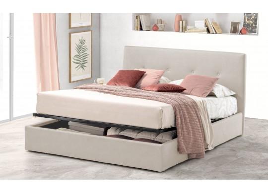 Pat Tapitat pentru Dormitor cu Lada, 100x190, Tiamo Promo Dolce Dormire, Textil Teflonat, Anti-Pete Jungle, Crem