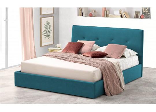 Pat Tapitat pentru Dormitor cu Lada, 100x190, Tiamo Promo Dolce Dormire, Textil Teflonat, Anti-Pete Jungle, Turcoaz