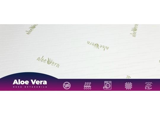 Saltea cu 2 zone de folosire, 15+5, Aloe Vera, 120x200, Zaffiro Soft HR, DolceDormire