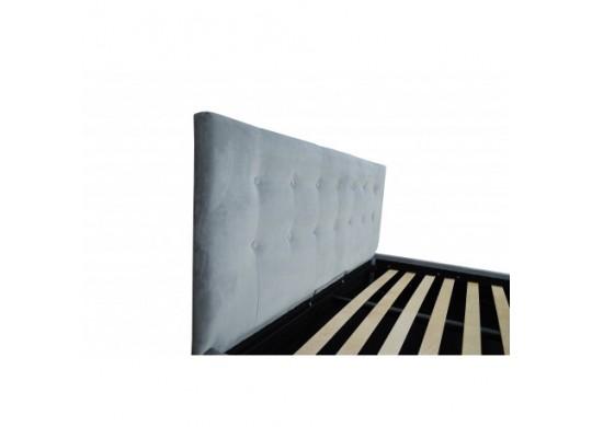 Pat Tapitat Rabatabil cu Lada Depozitare, 160x200 cm, Adria Slim, Dolce Dormire
